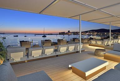 Chill Out terrace Hotel Alua Hawaii Ibiza San Antonio